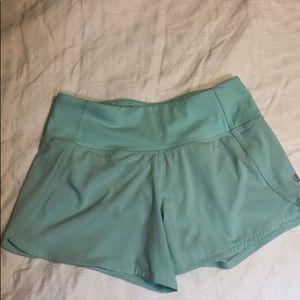 Lululemon size 2 mint shorts